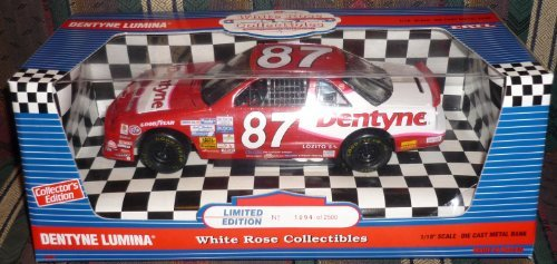 7410-ertl-white-rose-collectibles-joe-nemechek-87-dentyne-lumina-1-18-scale-diecast-coin-bank-by-ert