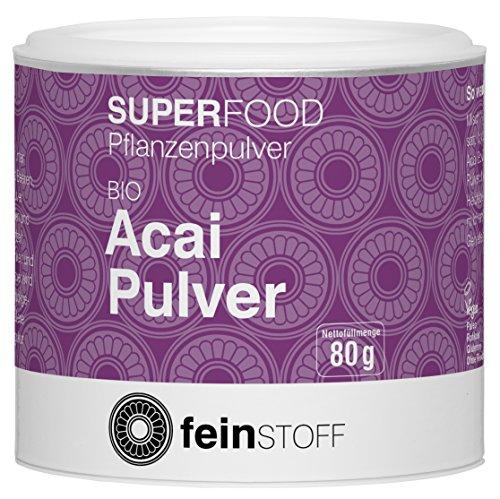 Feinstoff Acai-Pulver (1x 80g) (bio, vegan, glutenfrei, roh)