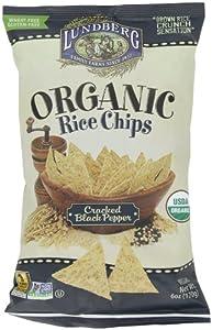 Amazon.com: Lundberg Organic Rice Chips, Cracked Black