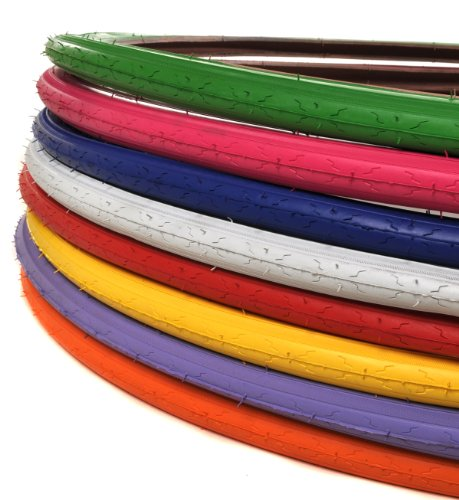 Colored Fixed Gear / Singlespeed Road Bike Tire PAIR 700c x 25c