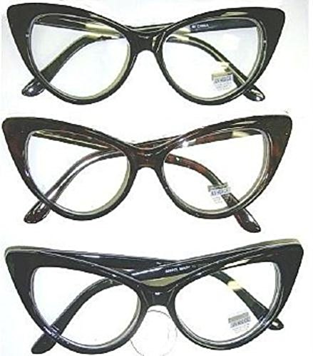 Popcandy 50s 60s Cat Eye Glasses with Clear Lens (50s Makeup And Hair)