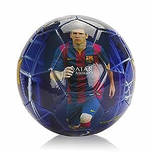 Ballon officiel, certifié Authentique du FC Barcelone, avec les images de Lionel Messi, taille 5