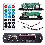 EDAL 7-12V Car Bluetooth MP3 Decoder Board Decoding Player Module Support FM Radio USB/TF LCD Screen Remote Controller New