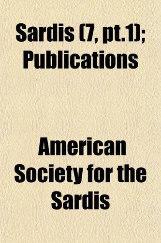 Sardis (7, pt.1); Publications