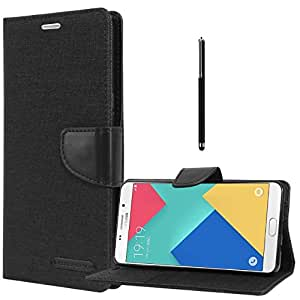Relax And Shop Flip Cover With Stylus Pen For Samsung Galaxy Grand Max GT7200- (Black Flip + Stylus)