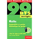 BTS 99 maths - corrigspar Sachetmarie-Therese