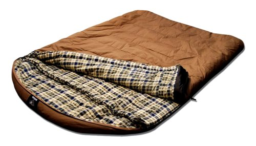 Grizzly 2 Person +25 Degree Canvas Sleeping Bag (Tan)