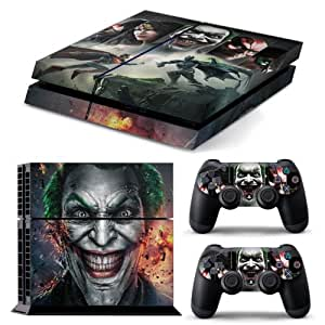 HEROES UNITED: BATMAN, JOKER, SUPERMAN Brand New Design Glossy Effect FULL Skin Including 2 Handset Skins Exclusively for the PS4