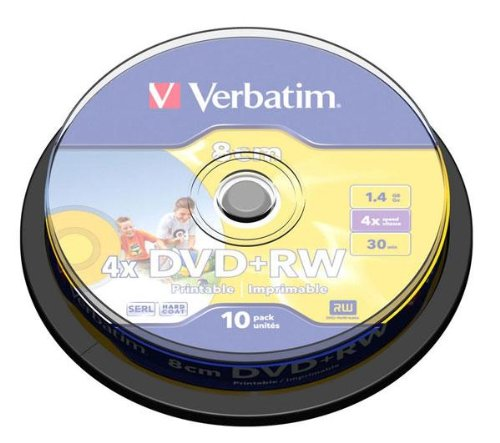 VERBATIM Spindle de 10 DVD+RW 4,7 Go 4x - surface argent mat