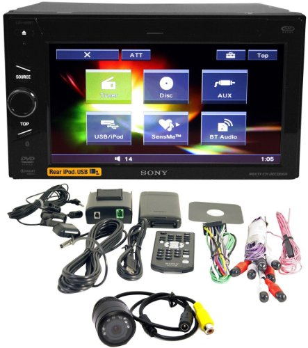 "Package: Brand New Sony Xnv-660bt 6.1"" Multimedia Touchscreen Double Din In-dash DVD Receiver with Navigation + Night Vision Back up Camera"