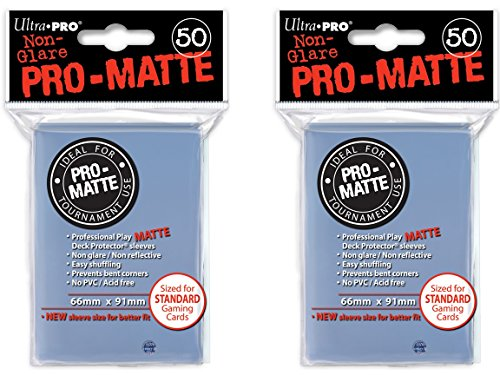 100 Ultra Pro CLEAR PRO-MATTE Deck Protectors Sleeves Standard MTG Pokemon