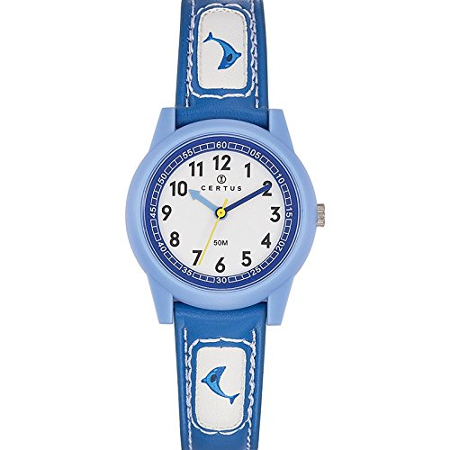Certus - 647584 Synthetic Strap Unisex Watch - Analogue Quartz - White Dial - Blue