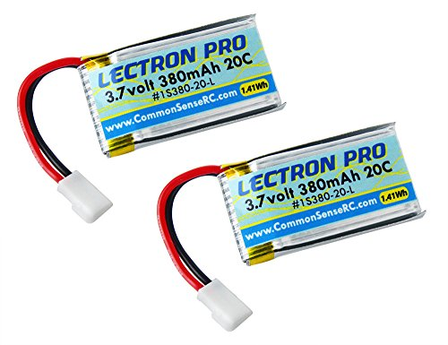 2-Pack of Lectron Pro 3.7 volt - 380mAh 20C Lipos for Hubsan X4