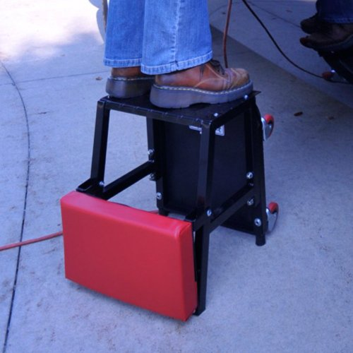 Pro-Lift C-2800 Grey Creeper Seat and Stool Combo - 300 lb. Capacity