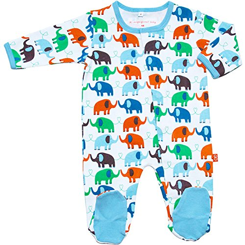 Magnificent Baby Footie Magnet Close Elephant Boy Footed Sleeper Pajamas Newborn