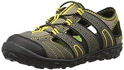 Hi-Tec Tortola Escape JR Aqua Shoe (Toddler/Little Kid/Big Kid),Smokey Brown/Taupe/Sunray,4 M US Big Kid