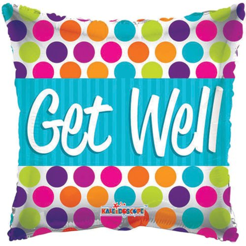 Conver USA 19521-18SP Get Well Dots Packed Balloon, 18""