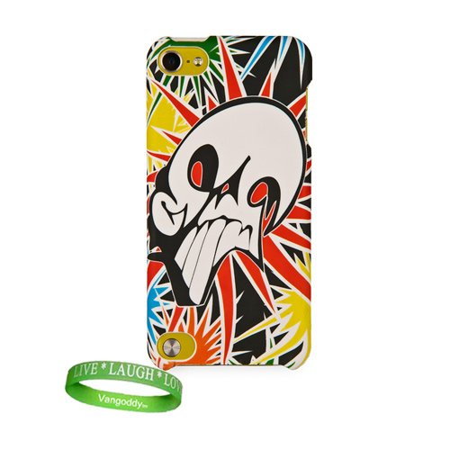Apple Ipod Touch 5 Hard Case Itouch 5Th Generation, With Unique And Exclusive Comic Book Skull Pow Design Newest Model + Vangoddy Brand Live Laugh Love Wrist Band + Itouch 5 Screen Protector + Ipod Touch Earbud Earphones