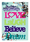 MagnaCard Magnetic Expressions' Love, Laugh, Believe, and Dream (BTSE) (Colors May Vary)