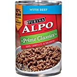 Purina ALPO Brand Dog Food Prime Classics With Beef Wet Dog Food, 22-Ounce Can, Pack of 12