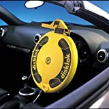 Full Cover Small Yellow Car Security Disklok - Steering Wheel Lock by Disklok