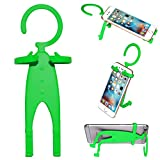 i-Dawn Lazy Silicone Cell Phone Kickstand Multi-Angle Portable Folding Phone Stand Holder(Green Human Shape Stand)