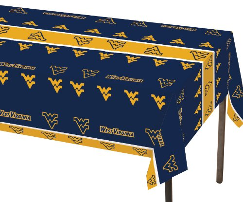 Creative Converting West Virginia Mountaineers Plastic Banquet Table Cover 1. 54 In X 108 In ( 137Cm X 274Cm)