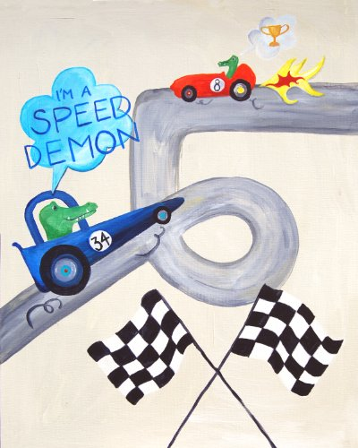Cici Art Factory Wall Art, I'm A Speed Demon, Small