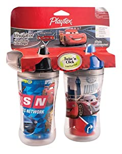 Playtex The World of Cars Insulator 9 oz - 2 Pack