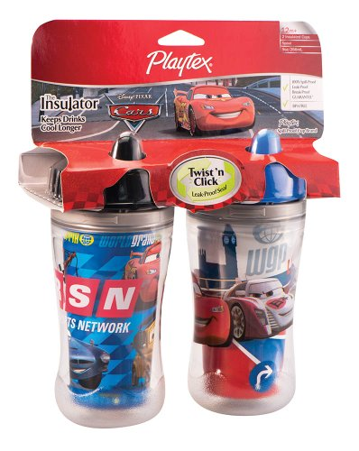 New Playtex The World of Cars Insulator 9 oz - 2 Pack