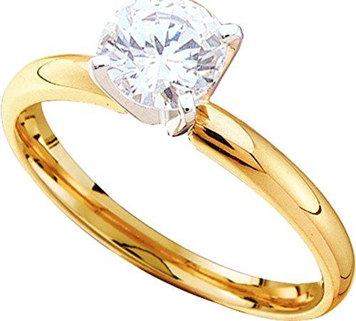 0.75CTW ROUND DIAMOND SOLITAIRE RING (EXE)