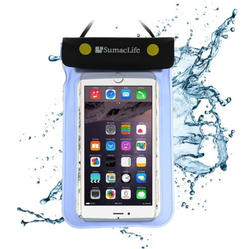 ECCRIS discount duty free For Apple iPhone 6S / 6 Plus Case, Sumaclife Universal Waterproof Cellphone Case bag for 5-5.5 inch Cellphones (Without Case on it) (Blue)
