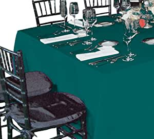 A-1 Tablecloth Company Square 90-Inch by 90-Inch Polyester Table Cloth, Teal (Case of 10)