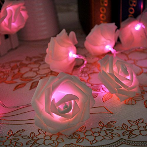 Lycheers Rose Fairy String Lights For Room Home Garden Christmas Party Decoration (Pink, 2.2M 20Leds)