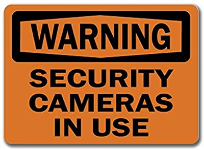 "Warning Sign - Security Cameras In Use - 10"" x 14"" OSHA Safety Sign"