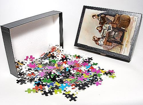 Photo Jigsaw Puzzle Of Ladies From Edinburgh Using A Singer Sewing Machine