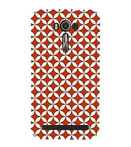 Reddish Cirle Cute Fashion 3D Hard Polycarbonate Designer Back Case Cover for Asus Zenfone 2 Laser ZE550KL (5.5 INCHES)