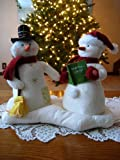Hallmark 2003 Animated Musical Jingle Pals Mr and Mrs Snowman Couple