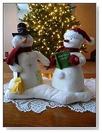 Hallmark Animated Musical Jingle Pals Mr and Mrs Snowman Couple