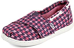 Toms - Tiny Slip-On Shoes In Pink Houndstooth, Size: 8 M US Toddler, Color: Pink Houndstooth
