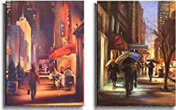 27th Avenue & 57th Street by Carol Jessen 2-pc Premium Stretched Canvas Set (Ready-to-Hang)