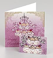 Happy Birthday Cake Stand Gift Card