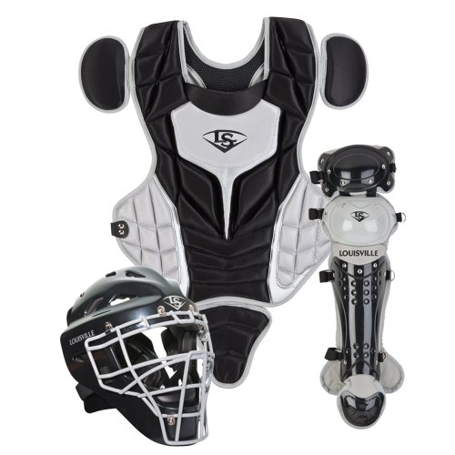 Louisville Slugger Intermediate PG Series 5 Catchers Set, Black/Gray (Adult Catcher Gear compare prices)