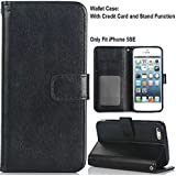 5SE Leather Case,iPhone 5SE Leather Flip,5SE Cover,Flipcase PU Leather Wallet Case With Card Slots Flip Stand...