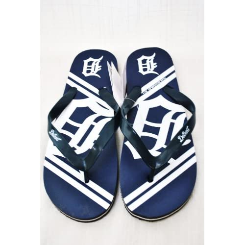 5bddab90479d Detroit Tigers MLB Unisex Flip Flop Beach Shoes Sandals slippers size Medium