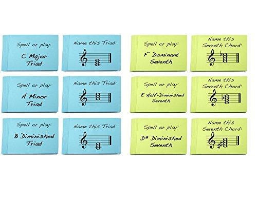 Dreiklang-und-siebten-Chord-Namen-Karteikarte-Sets-2-Stck-Groe-Learning-Triaden-und-Siebte-Akkorde