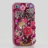 3D Swarovski Pink Juicy Crystal Bling Case Cover for iphone 4 / 4s (100% Handcrafted by BlingAngels)