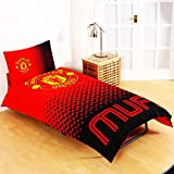 Manchester United FC Fade Reversible Single Duvet Cover and Pillow Case Set
