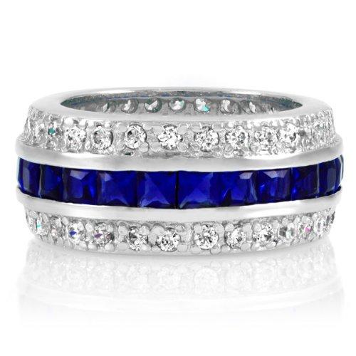 Majesty CZ Eternity Band Ring - Sapphire - Final Sale