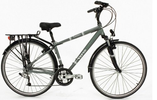 Torino Men's 24-Speed Trekking Bike in Gray (17 cm.)